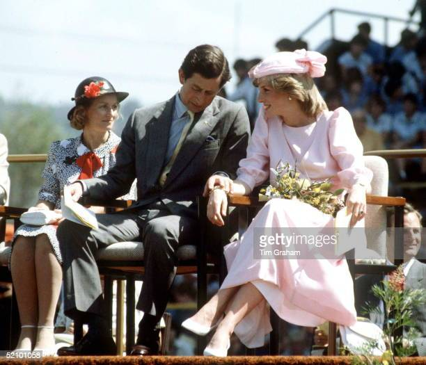 The Prince And Princess Of Wales On Their First Tour Together In Australia He Is Holding Her Hand To Reassure Her And Give Her Confidence