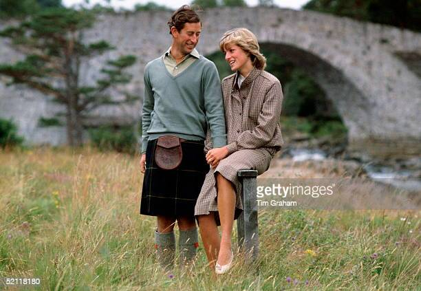The Prince And Princess Of Wales On Their Honeymoon In Balmoral Scotland
