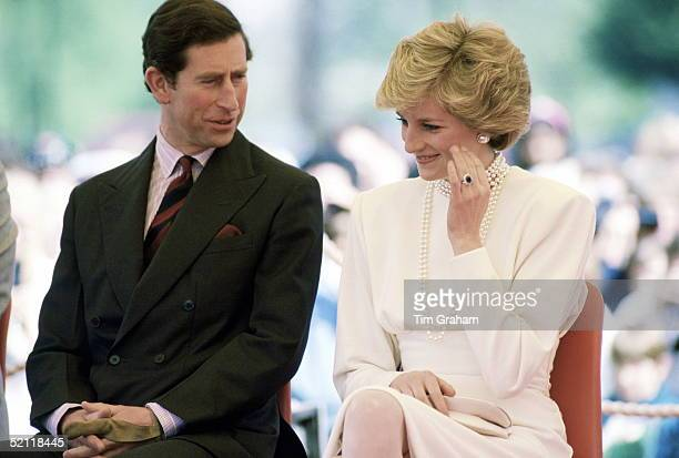 The Prince And Princess Of Wales Talking Together In Central Park During A Visit To Burnabi Canada On This Day She Fainted During A Visit To The Expo...