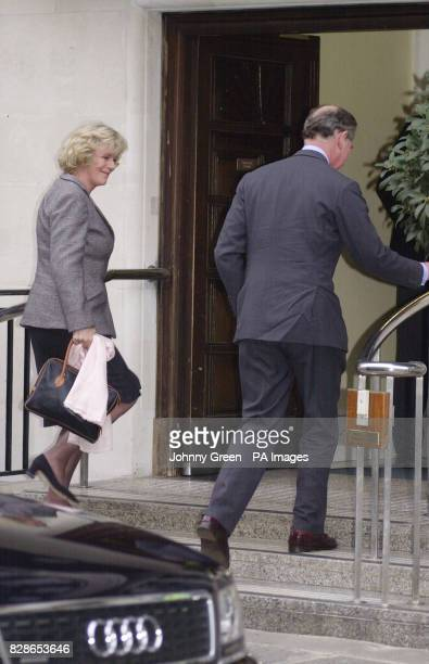 The Prince of Wales accompanied by Camilla ParkerBowles arrives at the King Edward VII Hospital in central London where he is to undergo a hernia...