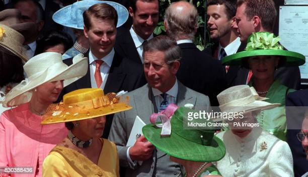 The Prince of Wales after the wedding of Princess Alexia of Greece to Carlos Morales Quintana at the Greek Orthodox Church of St Sophia in Bayswater...