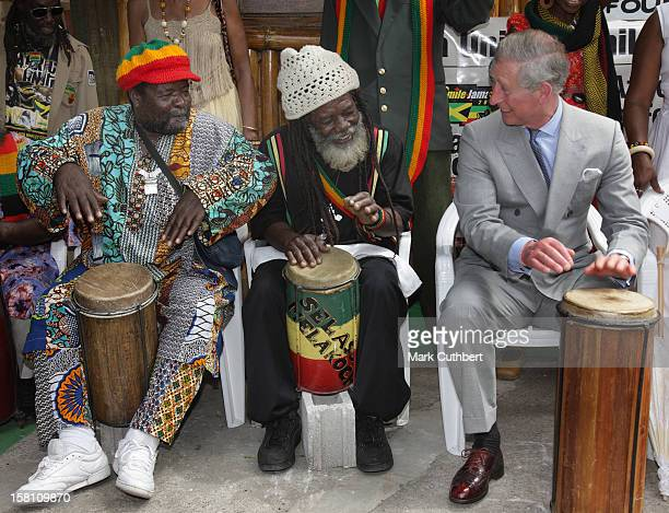 The Prince Of Wales And Camilla The Duchess Of Cornwall Visit The Bob Marley Museum Where They Met Rita Marley In Kingston Jamaica As Part Of Their...