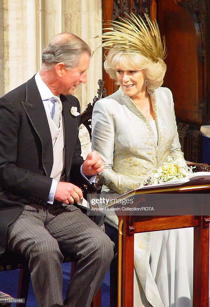 The Prince of Wales and his new wife Camilla Parker Bowles the Duchess of Cornwall
