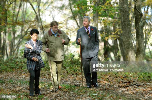 The Prince of Wales and Princess Takamado talk to C W Nicol an environmentalist who has spent the last 26 years establishing a pioneering...