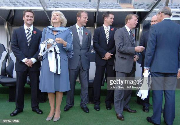The Prince of Wales and the Duchess of Cornwall are joined by Michael Owen Alan Shearer manager Glen Roeder England manager Steve McClaren and club...