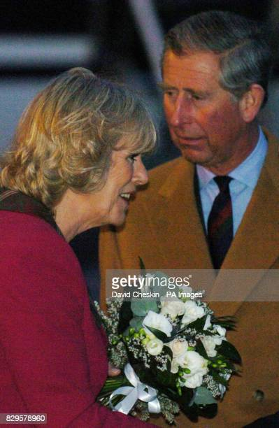 The Prince of Wales and the Duchess of Cornwall arrive at Aberdeen airport as they make their way to start their honeymoon at Birkhall on the...