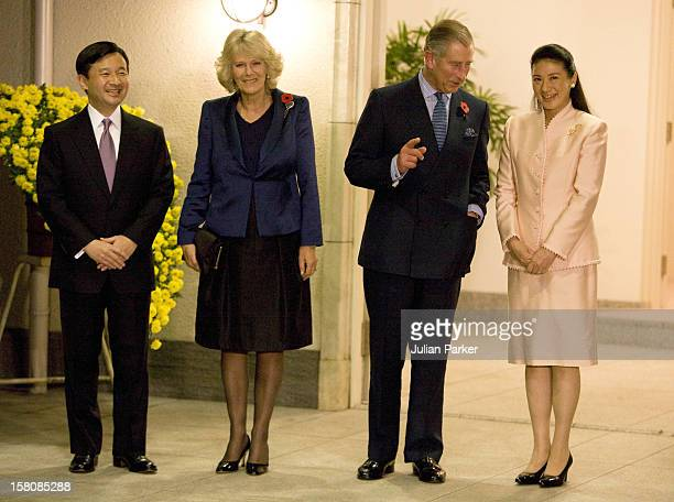 The Prince Of Wales And The Duchess Of Cornwall Attend A Dinner With Crown Prince Naruhito And Crown Princess Masako Of Japan At Their Temporary...