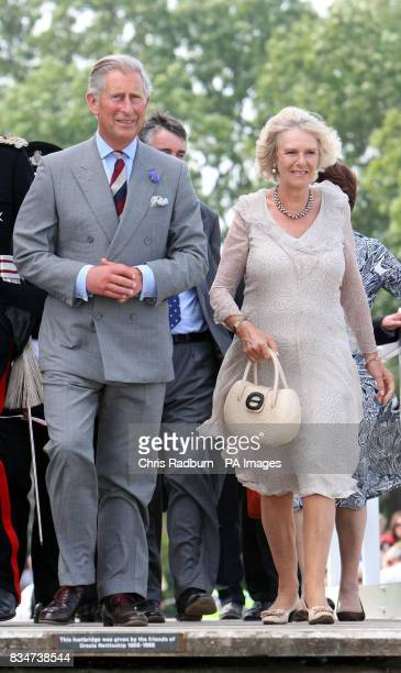The Prince of Wales and The Duchess of Cornwall leave Snape Maltings after a visit to Southwold Suffolk