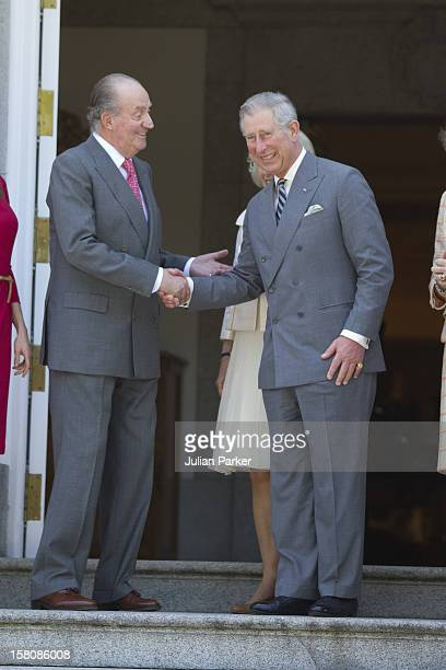 The Prince Of Wales And The Duchess Of Cornwall On A Three Day Official Visit To SpainAttend A Lunch At The Palacio De La Zarzuela In Madrid Hosted...
