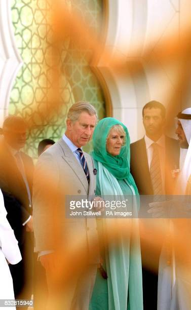 The Prince of Wales and the Duchess of Cornwall pay their respects at the Tomb of HH Sheikh Zayed bin Sultan Al Nahyan at the Sheik Zayed Mosque...