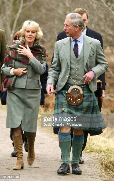 The Prince of Wales and the Duchess of Cornwall visit Muir of Dinnet National Nature Reserve on Royal Deeside in Scotland