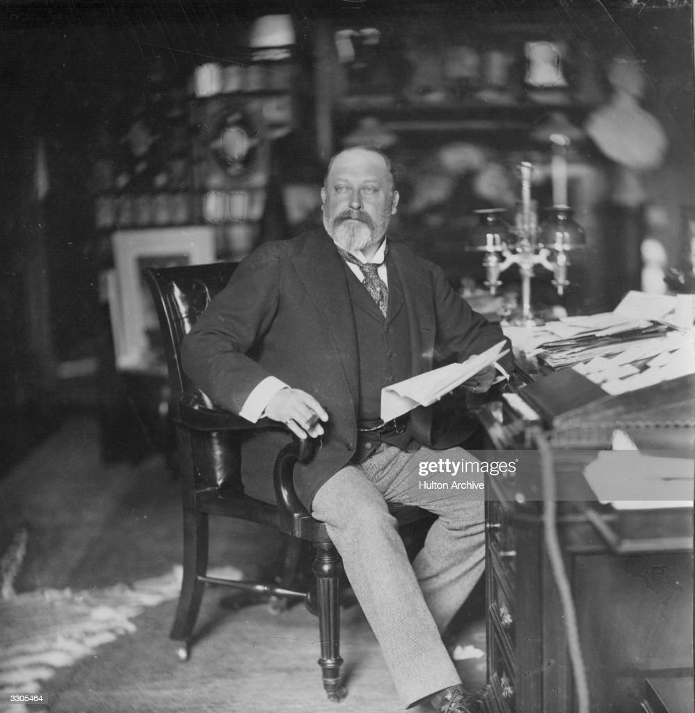 The Prince of Wales (1841 - 1919), at Sandringham in Norfolk. After serving for 60 years as Prince of Wales, he succeeded his mother Queen Victoria as King <a gi-track='captionPersonalityLinkClicked' href=/galleries/search?phrase=Edward+VII&family=editorial&specificpeople=107207 ng-click='$event.stopPropagation()'>Edward VII</a> in 1901.