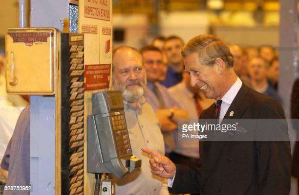 The Prince of Wales at the Weir Pumps in Cathcart Glasgow where he visited workers at Scotland's largest engineering firm Charles known as the Duke...