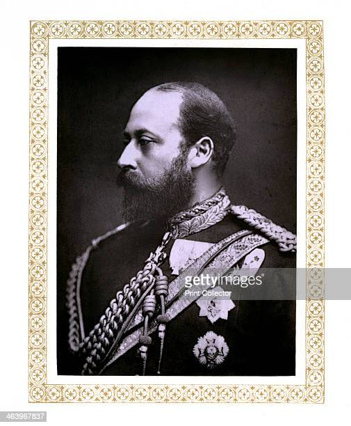 The Prince of Wales c1888 Portrait of the future King Edward VII Illustration from The Life and Times of Queen Victoria Vol II by Robert Wilson