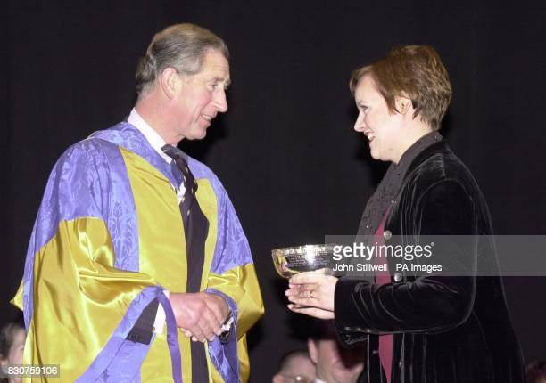 The Prince of Wales dressed in the robes of the President of the Royal College of Music at the Britten Theatre in London Prince Charles was at the...
