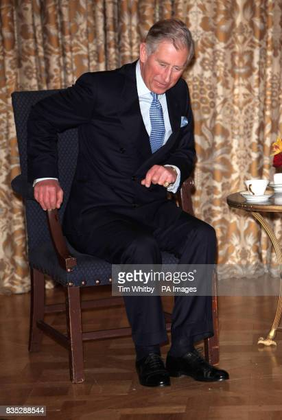 The Prince of Wales during a meeting with Chinese President Hu Jintao at The Mandarin Oriental Hotel London