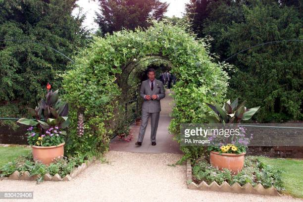 The Prince of Wales enters The Organic Kitchen Garden at Audley End House in Saffron Walden Prince Charles formally opened the garden after a...