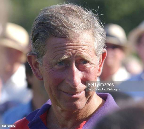 The Prince of Wales feels the heat after playing for BFF/Highgrove against CSPA in the Indian Cavalry Polo Trophy at Tidworth Polo Club BFF/Highgrove...