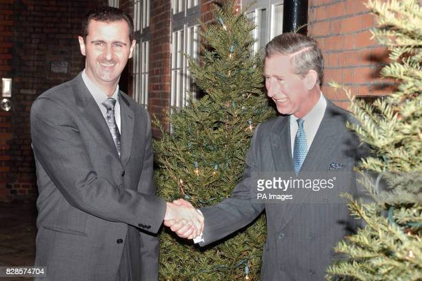 The Prince of Wales greets AlAssad president of Syria at St James' Palace
