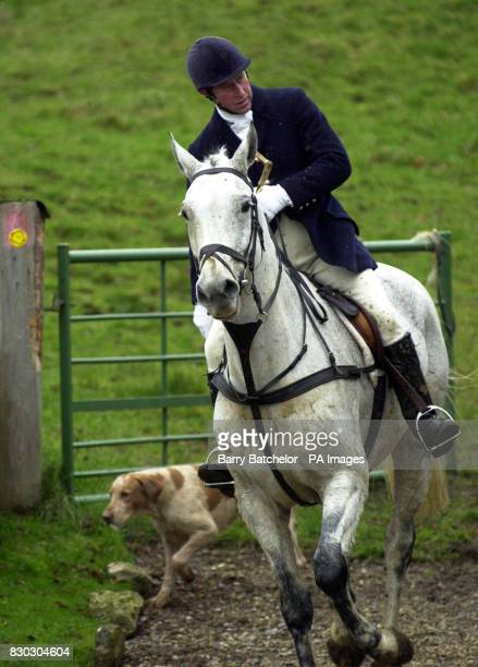 The Prince of Wales hunts with the Duke of Beaufort's Hounds in Gloucestershire * 6/1/2001 The Prince of Wales fractured a bone in his shoulder after...