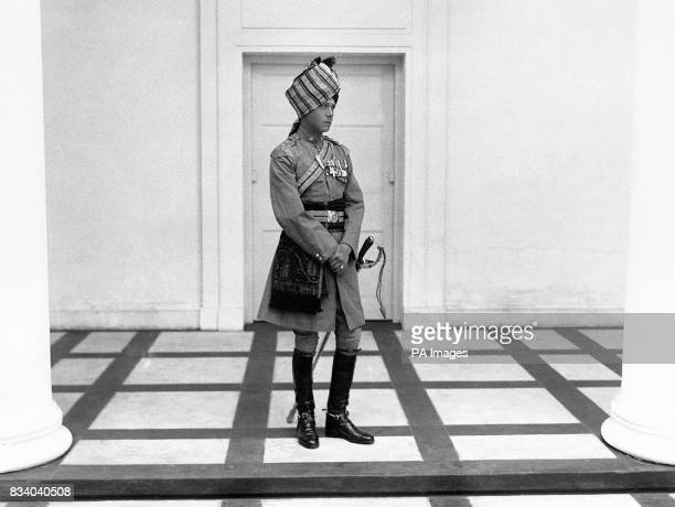 The Prince of Wales in uniform of the Scinde Horse of which he is the Colonel in Chief