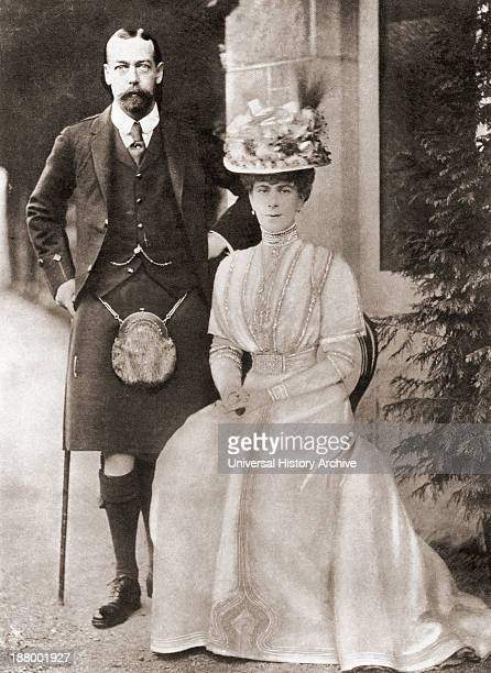 The Prince Of Wales Later King George V With His Wife Mary Of Teck In 1909 George V George Frederick Ernest Albert 1865 – 1936 King Of The United...