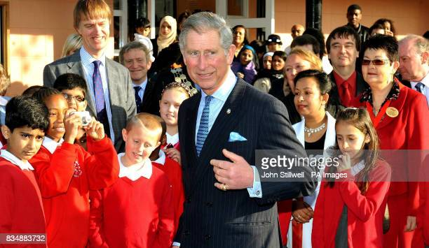 The Prince of Wales leaves after a visit to a Prince's Trust project at Beckton Community Centre in east London
