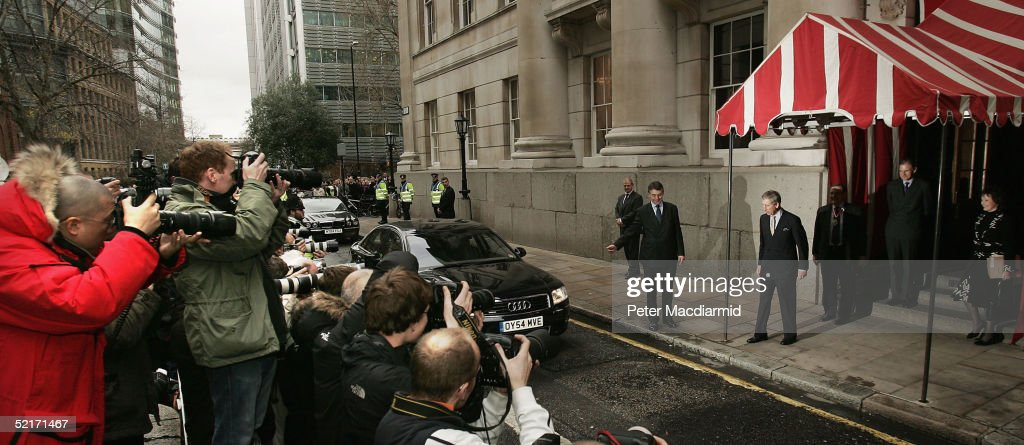 HRH the Prince of Wales leaves Goldsmiths Hall, February 10, 2005 in London, England. Clarence House today announced that Prince Charles will marry his long term partner Camilla Parker Bowles on Friday April 8. The ceremony will be held at Windsor Castle and Mrs Parker Bowles will take the title HRH the Duchess of Cornwall.