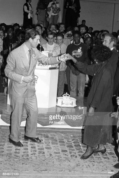 The Prince of Wales makes one girl's day by partnering her on the dance floor at a huge party to celebrate his 40th birthday today in a once derelict...