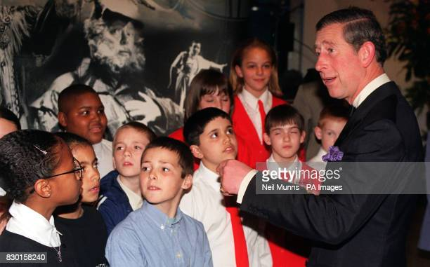 The Prince of Wales meets children chosen by the Welsh National Opera to take part in a special project on the opera Hansel Gretel which the Prince...