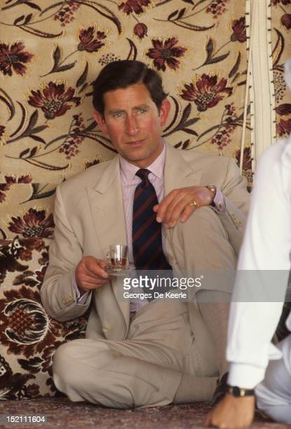 The Prince of Wales on a visit to Saudi Arabia on November 18 1986