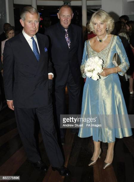 The Prince of Wales Patron of mental health charity SANE and The Duchess of Cornwall with their detective at the John Betjeman Centenary Gala in The...