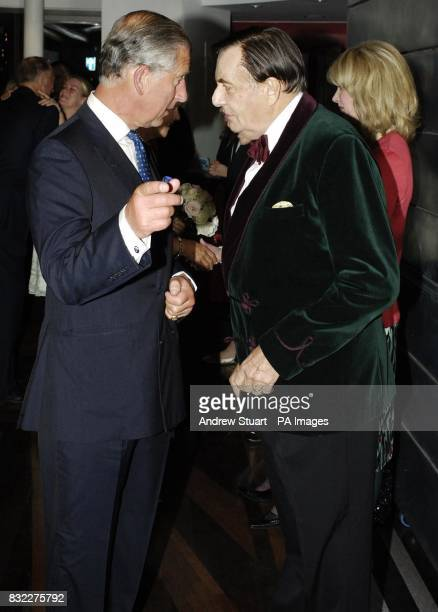 The Prince of Wales Patron of mental health charity SANE meets Barry Humphries at the John Betjeman Centenary Gala in The Prince of Wales Theatre in...