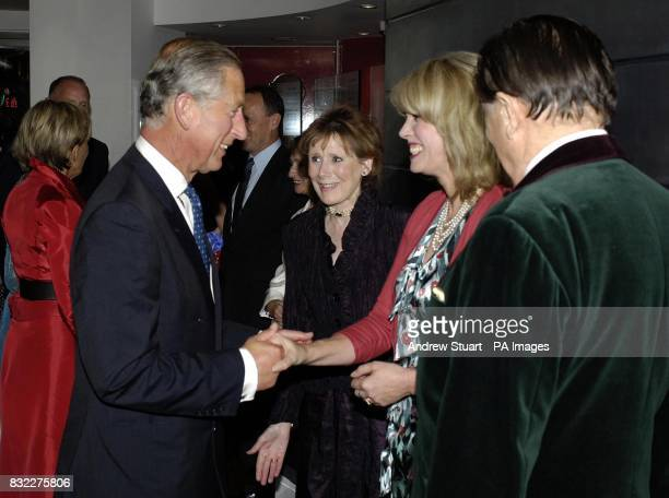 The Prince of Wales Patron of mental health charity SANE meets Joanna Lumley and Barry Humphries at the John Betjeman Centenary Gala in The Prince of...