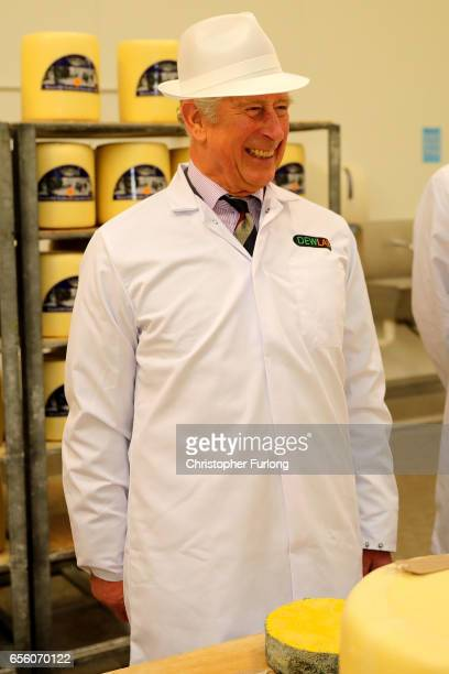 The Prince of Wales Patron of The Specialist Cheesemakers Association visits Dewlay Cheesemakers on March 21 2017 in Preston England Dewley...