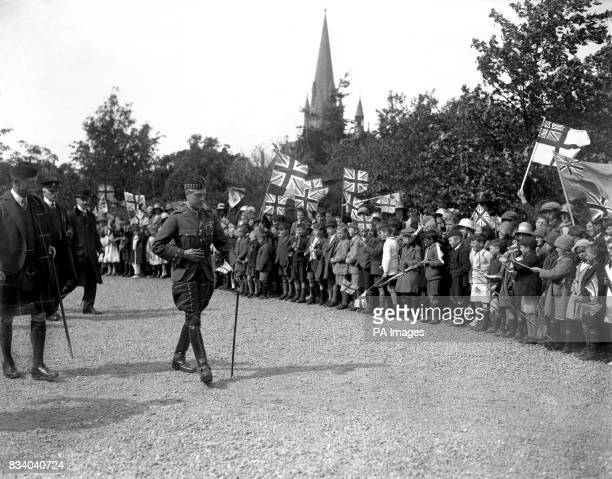 The Prince of Wales performing the opening ceremony of a Bazaar at Nairn for the Seaforth Highlanders Association Club