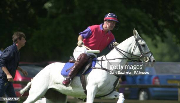 The Prince of Wales playing for Highgrove polo team beat Cirencester Park in the ladbrokescasinocom trophy at Cirencester Park Polo Club * 28/7/01 of...