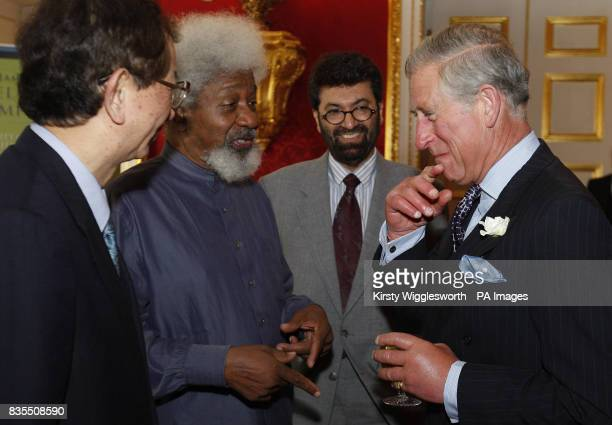 The Prince of Wales right Patron of the University of Cambridge Programme for Sustainability Leadership talks with from left Professor Yuan Tseh Lee...