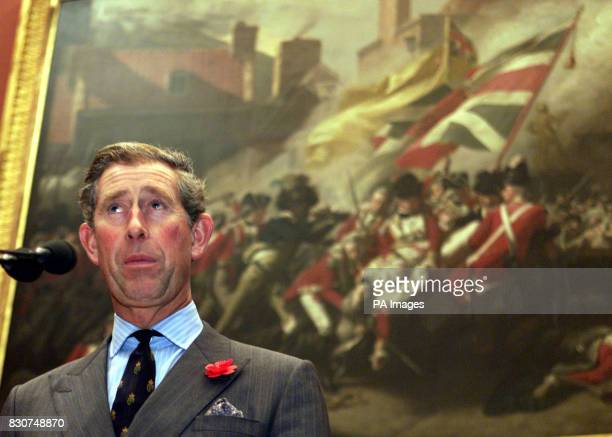 The Prince of Wales speaking during a visit to open the Tate Britain Centenary Development His tour included the viewing of a Cornelia Parker...