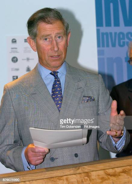 The Prince of Wales speaking during his visit to the National Marine Aquarium in Plymouth where he met stakeholders involved in the Invest In Fish...