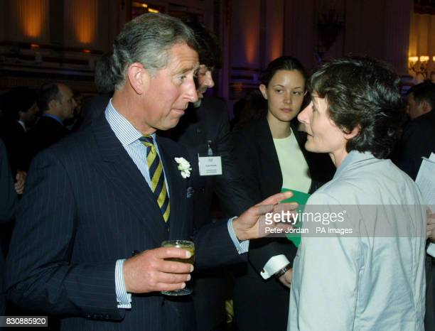 The Prince of Wales talks to Education Minister Estelle Morris at the launch at Buckingham Palace of 'Arts Kids' which encourages young people to...