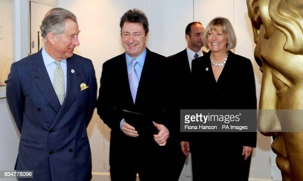 The Prince of Wales talks with Alan Titchmarsh and Kim Lavely Chief Executive of the Prince's Foundation for Integrated Health after he presented the...