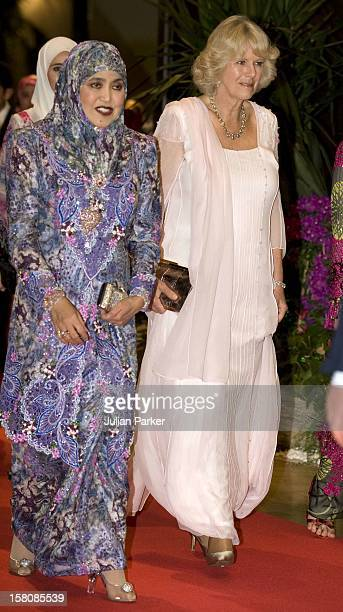 The Prince Of Wales The Duchess Of Cornwall Attend A Banquet At The Istana Nurul Iman Palace Hosted By The Sultan Of Brunei And His Two Wives His...