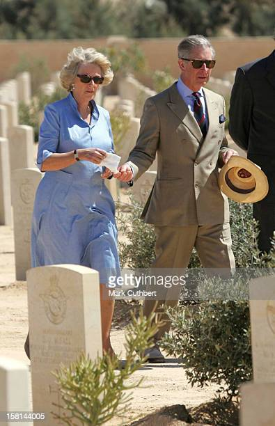 The Prince Of Wales The Duchess Of Cornwall Visit EgyptLaying A Wreath At The Commonwealth War Graves El Alamein Camilla Laid Flowers At The Graves...