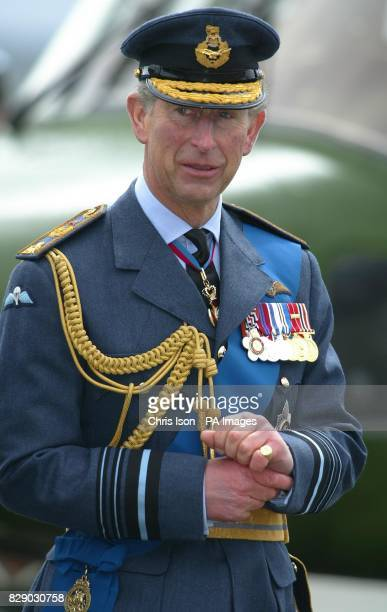 The Prince of Wales visits 7 Squadron of the Royal Air Force at their base RAF Odiham in Hampshire before presenting them with a new standard In a...