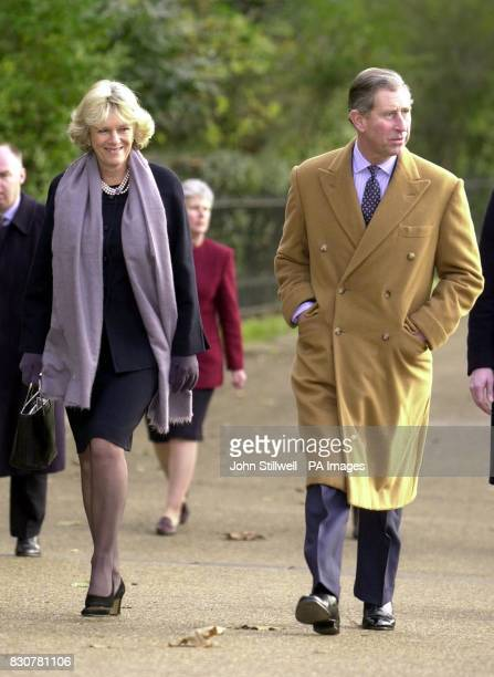 The Prince of Wales walks with his close friend Camilla ParkerBowles through Green Park in central London on their way to the Ritz hotel for the...