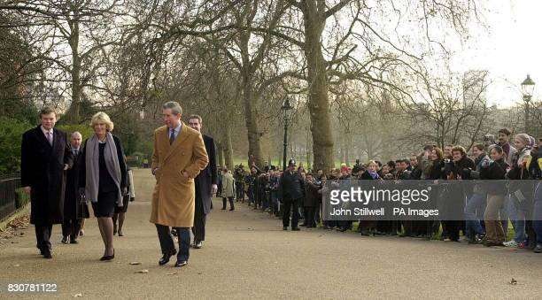 The Prince of Wales walks with his close friend Camilla ParkerBowles through Green Park in central London on their way to the Ritz hotel from ST...