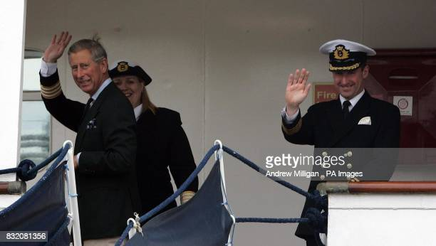 The Prince of Wales who stayed on The Hebridean Princess at the end of the royal weeklong holiday around the Hebrides