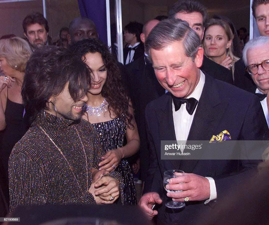 The Prince of Wales with Prince at the Versace/De Beers charity event at Syon House, London on June 9th 1999