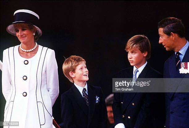 The Prince Princess Of Wales Princes William Harry Attend Vj Day Commemorative Events